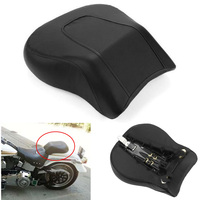 For Harley Fat Boy FLSTF 2008 2014 Black Rear Pillion Passenger Seat Pad Cushion Motorcycle Accessories 2009 2010 2011 2012 2013