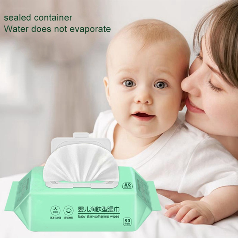 80pcs/Box Disposable Hand Portable Disinfection Disposable Wipes With Lid Wet Wipes