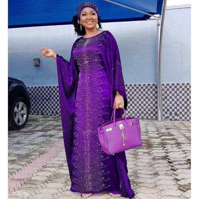 فساتين إفريقية للنساء 2019 أفريقيا ملابس مسلم فستان طويل جودة عالية طول موضة فستان أفريقي لسيدة