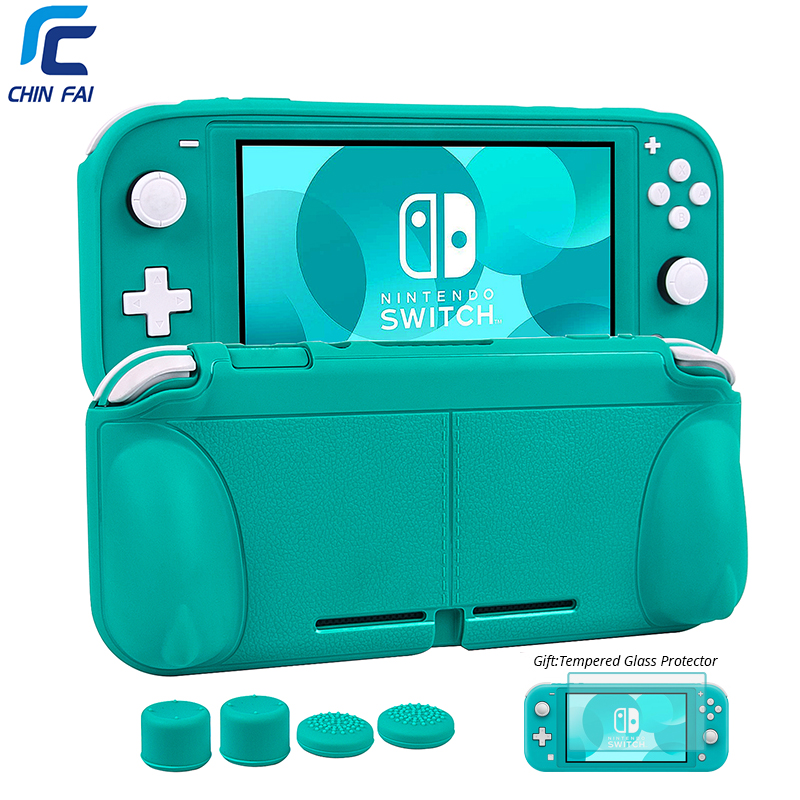 CHINFAI TPU Soft Case for Nintend Switch Lite Ergonomic Non-slip Rubber Protective Stand NS mini Console