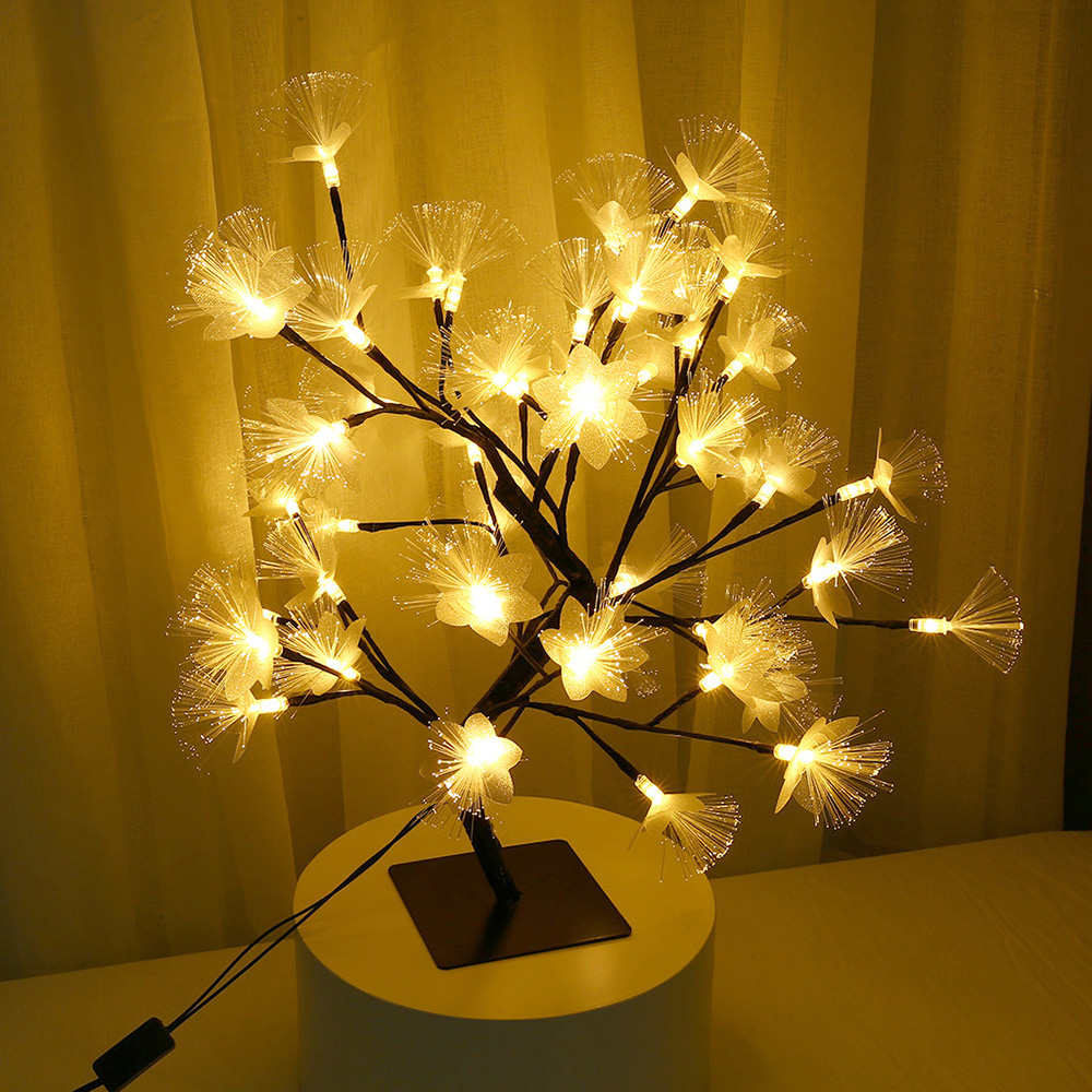 LED Tree Lamp Battery Powered Natural Tall Vase Filler Willow Twig Lighted Branch For Home Decoration