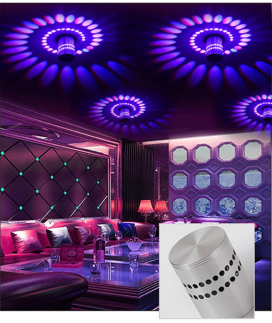 Hca7991aa0fd0473a838d6d24bf13fb92O Modern LED Ceiling Light 3W RGB Porch Lamp Surface Mount Flush Lighting Fixture Balcony Corridors Living Room Decor