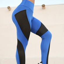 Black Hollow Out Mesh Patchwork Leggings High Waist Push Up Leggings Women Fitness Clothing Breathable Yoga Pants Activewear black cut out yoga bodycon leggings