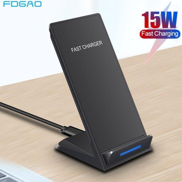 DCAE 15W Đế Sạc Không Dây Cho iPhone SE 2 11 Pro Max XS XR X 8 USB C Tề nhanh Đế Sạc Dành Cho Samsung S20 S10 S9