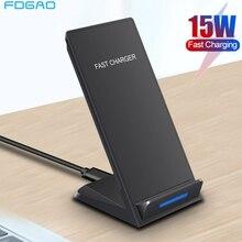 DCAE 15W bezprzewodowa ładowarka stojak na iPhone SE 2 11 Pro Max XS XR X 8 USB C Qi szybka stacja dokująca do Samsung S20 S10 S9