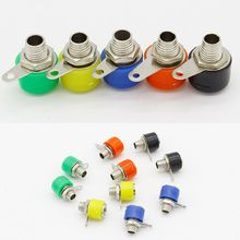 10pcs/lot 4mm banana binding post 4mm banana socket Free shipping 5color/lot