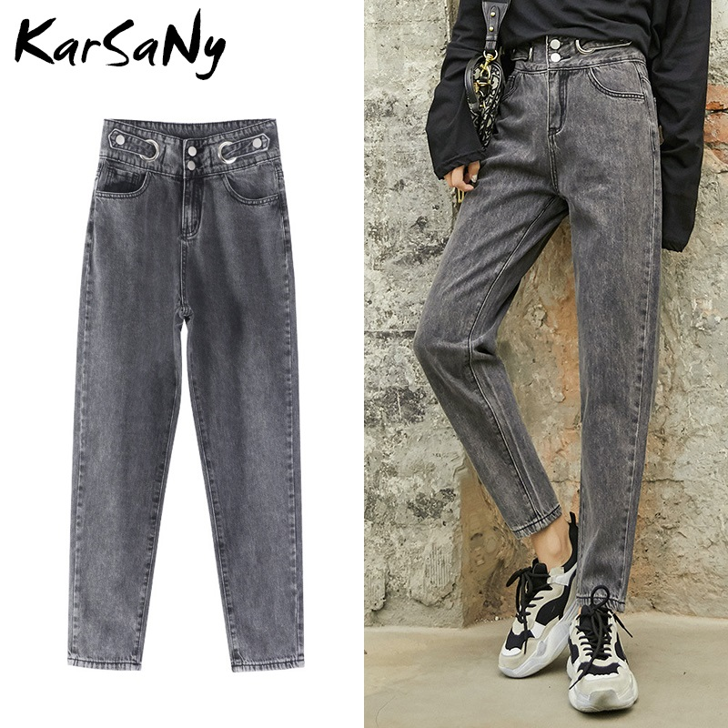 KarSaNy Women's Jeans Boyfriends 2020 Woman Mom Harem Boyfriend Jeans For Women 2020 Hight Waist Women's Denim Pants For Women