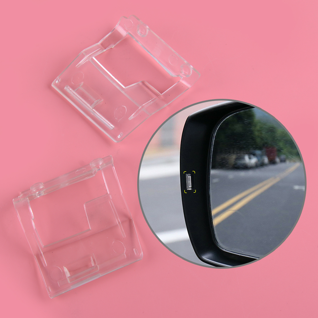 DWCX 2pcs Clear Car Side Mirrors Assistant Turn Signal Light Indicators Lens Fit For Subaru Forester XV 2015 2016 2017 2018 2019