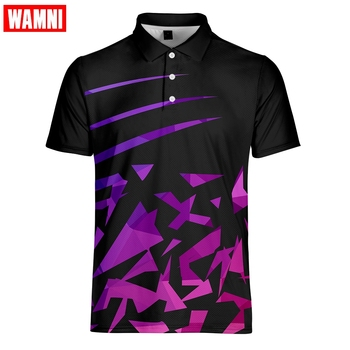 WAMNI do badmintona koszulka Polo na co dzień Oversize skręcić w dół kołnierz proste ciemny czerwony z krótkim rękawem tenis Polo-koszulka sportowa s-4XL