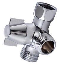 T-образное соединение Медь Насадки для душа с гальваническим покрытием прочный 3-сторонний выход ручной Ванная комната переключателем