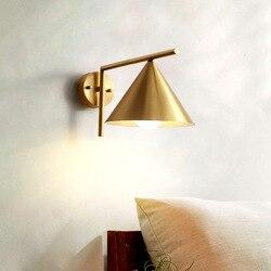 System pełna miedź kinkiet postmodernistyczne sypialnia nocne schody zwięzłe przejście salon złoty obrotowy róg kinkiet