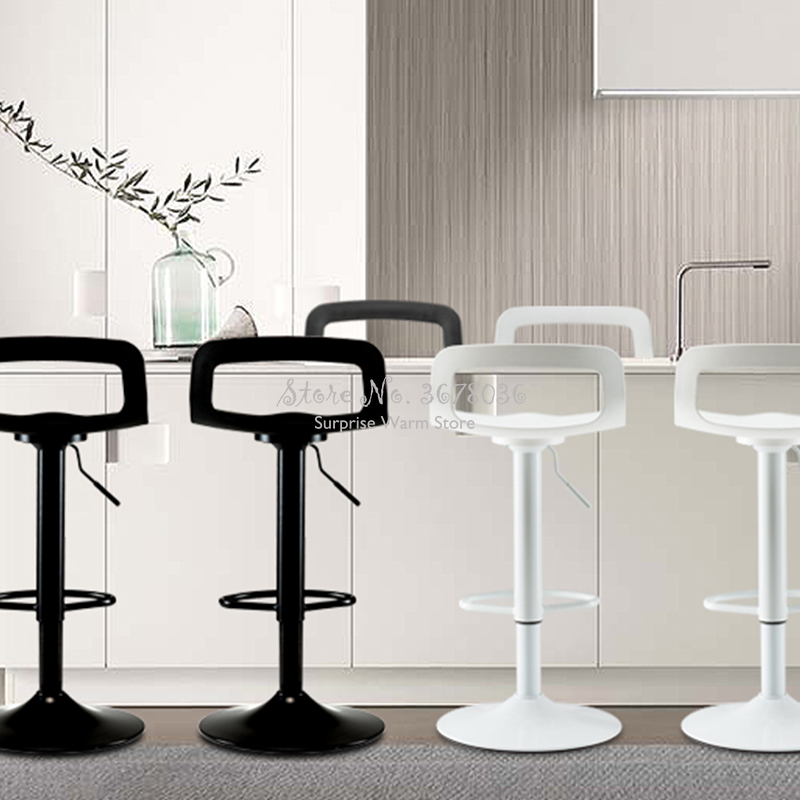 Best Modern Height Adjustable Bar Stools Iron+PP Bar Chair Seat Make Up Chair Dotomy Beauty Salon Furniture 360 degree Rotate