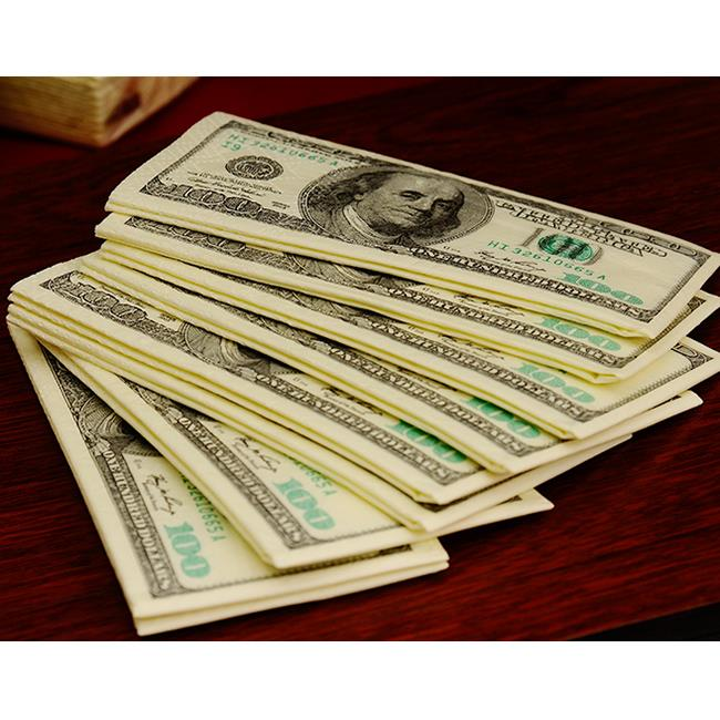 דולר ביל חידוש רקמות 100 דולרים מפית מגבת מתנת מסיבת לנגב נוחות רך חדש פופולריות נייר