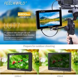 Image 2 - FEELWORLD LUT7 7 Cal 3D LUT 2200nits ekran dotykowy lustrzanka cyfrowa Monitor zewnętrzny z histogramem VectorScope
