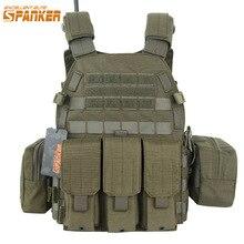 EXCELLENT ELITE SPANKER Tactical Vest Suit Plate Carrier Molle Hunting Vest Suit Airsoft Vests Chest Rig Gear Armor Plate Vests
