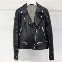 Chaqueta de cuero Real para mujer otoño 2019 abrigo de cuero genuino chaqueta de motociclista para mujer