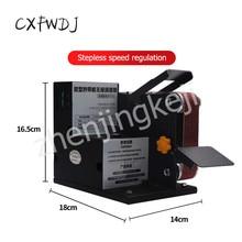 SD-01 Miniature Small Electric Belt Machine DIY Polishing Grinding fixed Angle Sharpening Blade Desktop