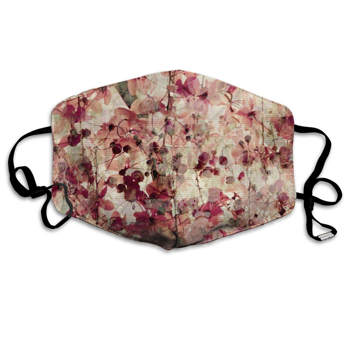 Mouth Mask Retro Cherry Blossoms Floral Print Masks - Breathable Adjustable Windproof Mouth-Muffle, Camping Running For Women