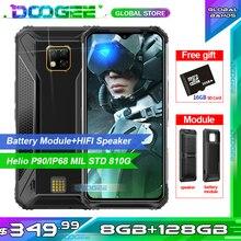 Doogee Telefon komórkowy S95 Pro, modułowy, wytrzymały, IP68/IP69K, 6,3 calowy wyświetlacz, ośmiordzeniowy procesor Helio P90, trzykanałowy aparat 48 MP, 8GB, 128GB