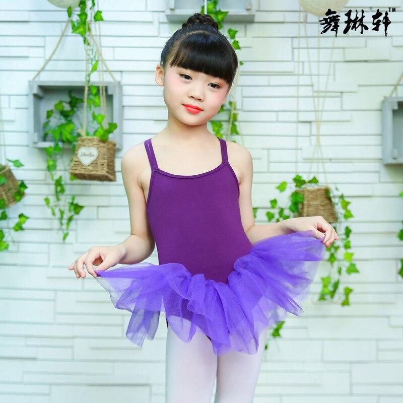 Летняя одежда для упражнений для девочек, крест двойной ремень, балетное платье, Сетчатое платье, одежда для латинского танца, на заказ
