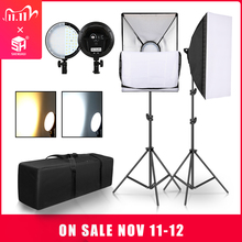 Photography LED Lamp Bead Softbox Lighting Kit Two Color Continuous Light Soft Box 45W System Accessories For Photo Studio Video