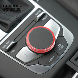 Car Styling Center Console multimedia Knob Switch Buttons Frame Cover Stickers Trim For audi A3 V8 S3 Auto Interior Accessories