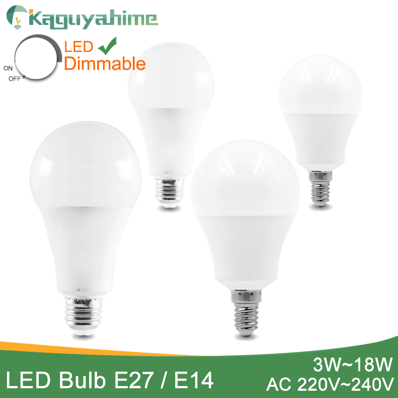 Kaguyahime Real Power LED Bulb Dimmable LED Lamp 220V E27 E14 Ultra Bright Light 3W 5W 6W 9W 12W 15W 20W Lampada LED Bombilla