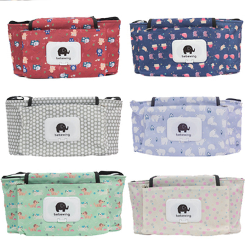 Travel Picnic Storage Bags Waterproof Mammy Bag Portable Cartoon Baby Carriage Saddlebag Part Collection Trolley Hanging Package