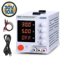 ABF Switching DC Power Supply Laboratory adjustable 30v 10A LCD screen Bench Power Source Regulator 4 digit digital display 220V