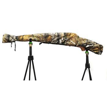 Gun Slicker Scoped Rifle Case, Water Resistance Camo Shotgun Case, Rifle Sleeve Cover Fast Gun Case for Shooting Hunting 1