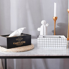 Tissue Storage Nordic INS Wooden Crafts Living Room Dining Room Decoration Simple Wooden Tissue Box 24x13x8.7cm Hot Sale#R25