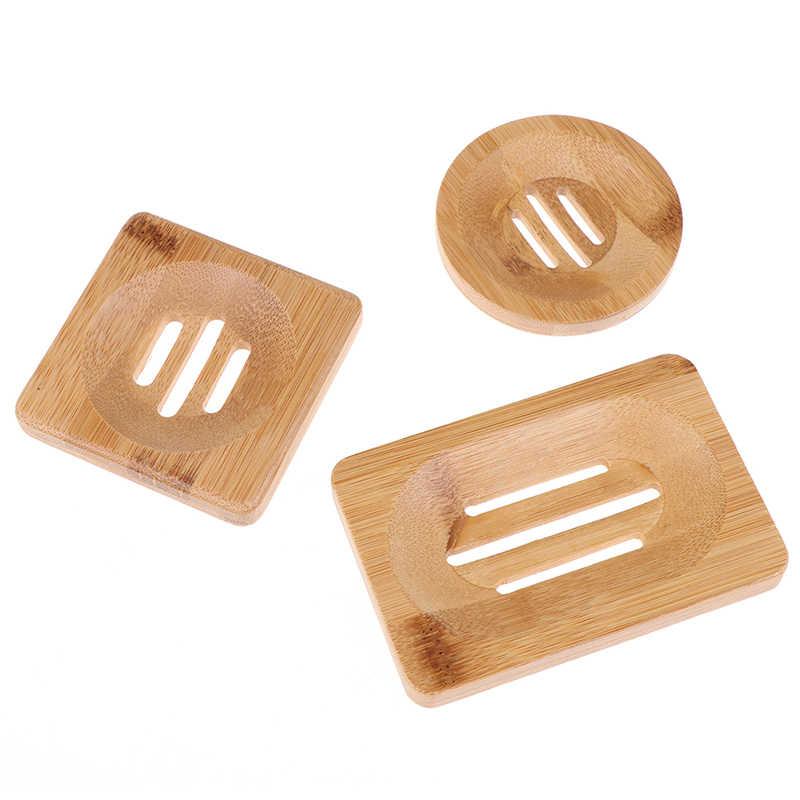 صابون بامبو خشبي طبيعي طبق خشبي طبق للصابون حامل تخزين الصابون رف لوحة حاوية علب للحمام دش لوحة الحمام