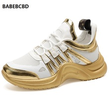 Cross-border exclusive for 2019 autumn popular new women's casual sneakers shoes zapatos dorados para mujer