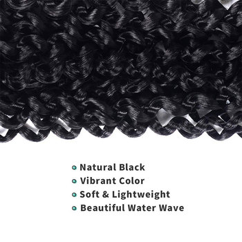 18inch 22strands Passion Twist Hair Crochet Braid Extensions Synthetic Crotchet Hair Water Wave Braiding Hair 4