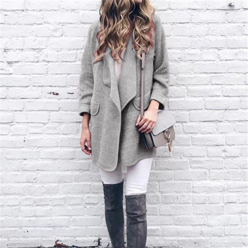 Fashion Long Sleeve Women Jacket Coat Turn-down Collar Warm Winter Women Jacket 2019 Ladies Female Outwear Basic Jacket CDR810