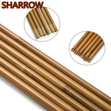 6/12/24Pcs 33/ 84cm Archery Arrow Shaft Bamboo Shafts Self Nock Handmade 8mm DIY Tools Hunting Shooting Accessories