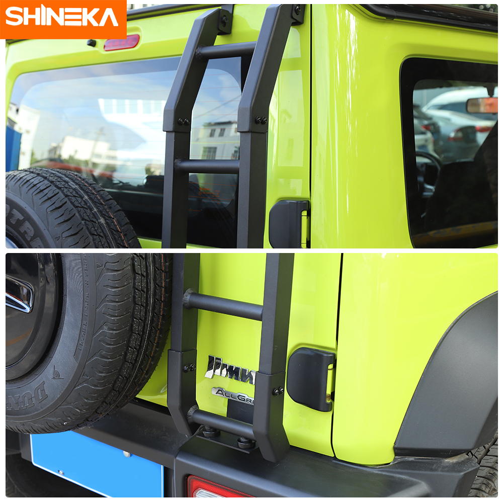 Image 4 - SHINEKA Protective Frames For Suzuki Jimny JB74 2019+ Car Exterior Rear Door Tailgate Ladder Accessories For Suzuki Jimny 2019+Protective Frames   -