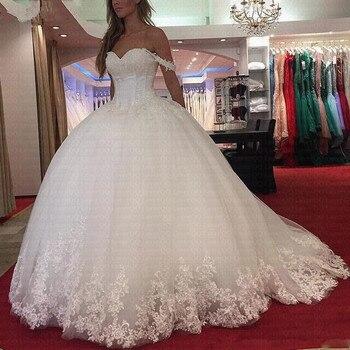 Vestido De Noiva Unique Spaghetti Straps Wedding Dresses 2019 Sweetheart Beaded Princess Bride Dresses robe de mariee