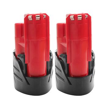 3000mAh 12V wymienna bateria kompatybilna z Milwaukee M12 XC 48-11-2410 48-11-2420 48-11-2411 12-woltowe narzędzia akumulatorowe Batteri tanie i dobre opinie bonacell M12 M-12 M 12 Li-ion Tylko baterie for Milwaukee 48-11-2402 48-11-2412 48-11-2440 C12 B C12 BX Replacement Batteries