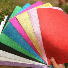 10 Colors Glitters Foam Paper Eva Sponge for Background Fold Scrapbooking Craft Punch Stamping Diy Gift Decor 20*30cm