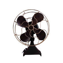 1PC Home Decor Vintage Iron Standing Fan Model Household Casual Desktop Fan Craft Photo Props For Home Bedroom Decoration(China)