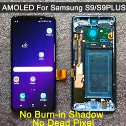 מקורי החלפת AMOLED לסמסונג גלקסי S9 S9 + LCD תצוגת מסך מגע Digitizer עם מסגרת G960 G965 s9 בתוספת lcd