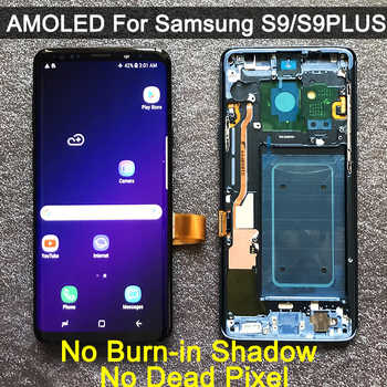 ORIGINAL AMOLED Ersatz für SAMSUNG Galaxy S9 S9 + LCD display Touch-Screen-Digitizer mit Rahmen G960 G965 s9 plus lcd