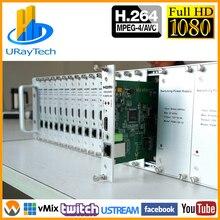 3U стеллаж для выставки товаров для 16ти-канального видеорегистратора H264 H.264 1080P HDMI кодировщик 16 в 1 HDMI к IP потокового видео кодер IPTV RTMP UDP HLS RTSP ONVIF
