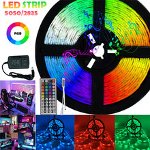 Tiras de led luzes bluetooth wi-fi luces tira conduzida rgb 5050 2835 fita flexível dc12v 5m 10 15m 20 25m 30m fita diodo flexível
