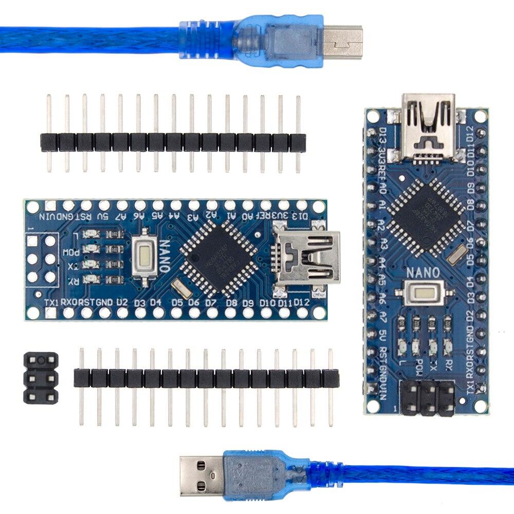 Nano Con El Controlador De Arranque Compatible Nano 3,0 Para Arduino CH340 Controlador USB 16Mhz Nano V3.0 ATMEGA328P/168 P