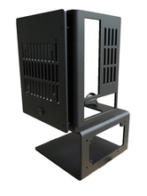 A4 Mini ITX PCเปิดAir Case Test Benchแนวตั้งกรอบสนับสนุนSFXแหล่งจ่ายไฟATXน้ำCooling Chassis 120/140/240/280W