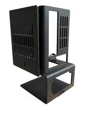 A4ミニitx pcオープンエアケーステストベンチ垂直合金フレームサポートsfx atx電源水冷却シャーシ120/140/240/280ワット