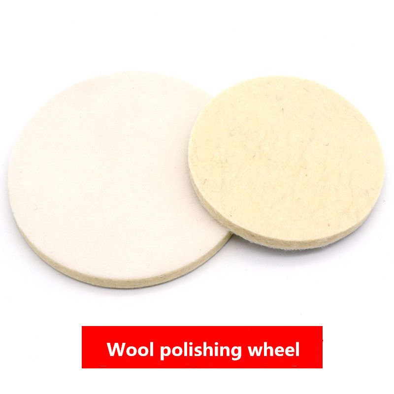 4/5Inch Wool Polishing Wheel Felt Wheel Grinding Plate Elf-Adhesive Wool Wheel Pad For Car Polisher Polishing Pad    Accessories