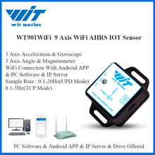 WitMotion WT901WiFi Wireless 9 Axis WiFi Sensor Angle Inclinometer + Accelerometer + Gyro + Magnetic Field on PC/Android/Server